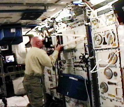 expérience Passages à bord de l'ISS (credit NASA)