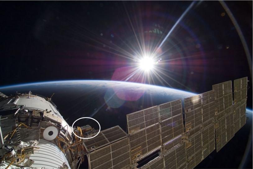 instrument Expose R2 installé à l'extérieur de l'ISS